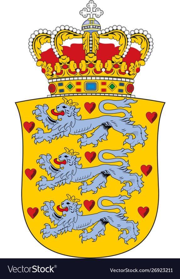 The national coat of Denmark